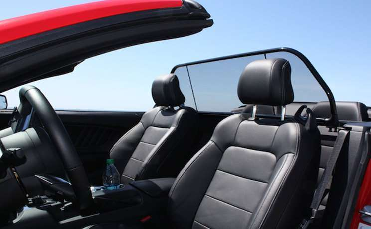 Mustang 2015 red gt wind deflector by love the drive
