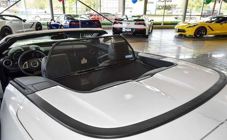 Camaro convertible wind deflector 2016 to 2020 by love the drive rear view 3
