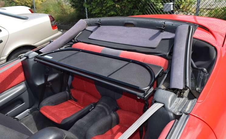 Camaro convertible wind deflector laying flate for 1993 to 2002 by love the drive