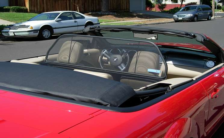 Mustang convertible wind deflector 2005 to 2014 by love the drive