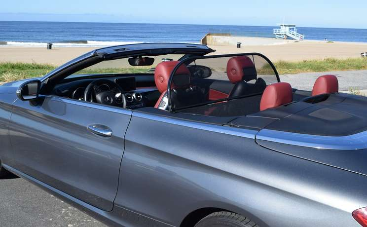 Mercedes convertible wind deflector the  1 accessory for c class mercedes made by love the drive